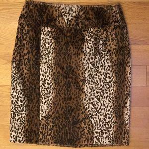 New Saks fifth avenue faux fur skirt